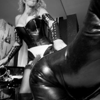 London Oxford Black Whip Strap On Mistress