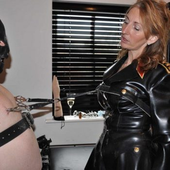 Mistress Hood Leather Slave Submissive